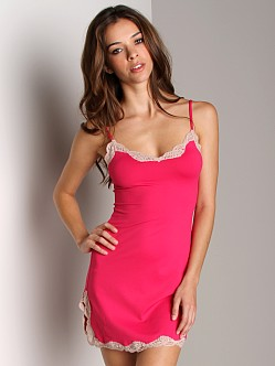 Only Hearts Delicious With Lace Chemise Fushia/Bone