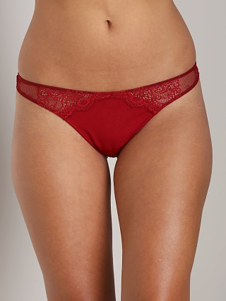 Only Hearts So Fine with Lace Thong Crimson