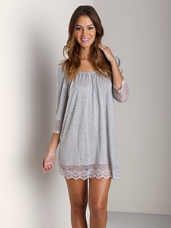 Only Hearts Venice Night Dress Heather Grey
