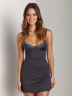 Only Hearts Delicious With Lace Balconette Chemise Gun Metal