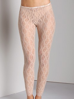 Only Hearts Stretch Lace Leggings Nude