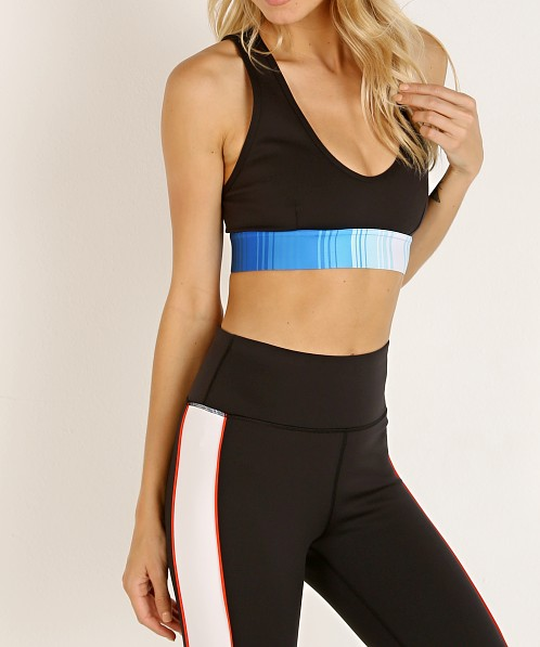PE NATION Lineal Success Sports Bra Black
