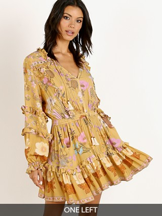 Spell & The Gypsy Wild Bloom Long Sleeve Playdress Mustard