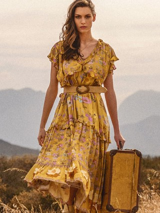 Spell & The Gypsy Wild Bloom Gown Mustard