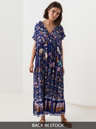 Spell & The Gypsy Wild Bloom Gown Navy