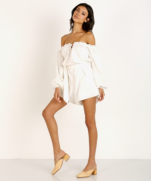 26c646b80fa7 Spell & The Gypsy Milla Romper Off White 192122A03 - Free Shipping at Largo  Drive