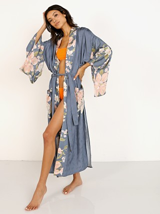 Spell & The Gypsy Waterfall Maxi Kimono Deep Blue