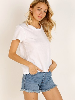Model in white LNA Clothing Santiago Twist Tee
