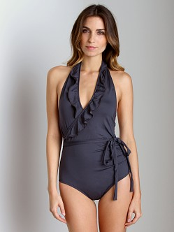Kushcush Lauren One Piece Bathing Suit Slate