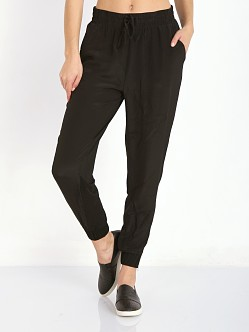 State of Being Silk Front Jogger Black