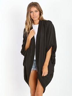 State of Being Draped Kimono Cardi Black