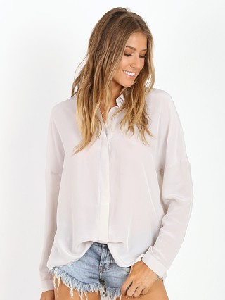 State of Being Dropped Sleeve Silk Shirt Pearl Grey