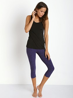 Beyond Yoga Capri Legging Black Violet Space Dye