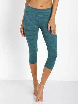 Beyond Yoga Essential Striped Legging Heather Green
