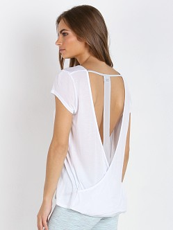 alo Yoga Row Top White/Stone Grey