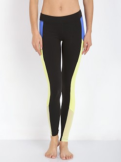 alo Yoga Ascendant Legging Black/Surf Blue/Sunny Lime
