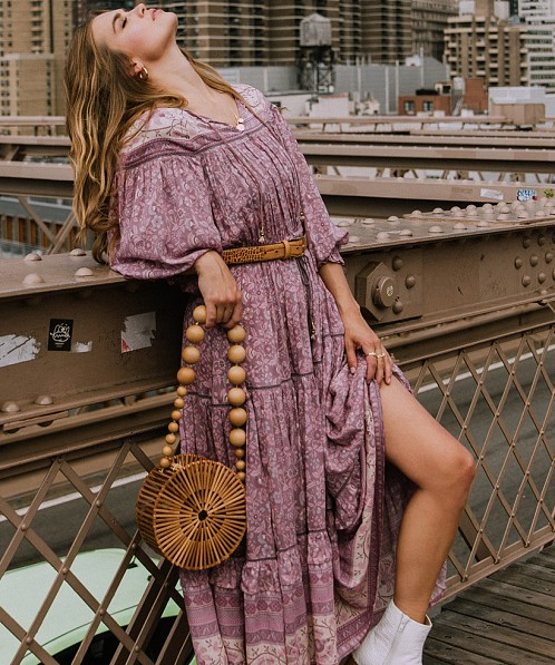 Spell & The Gypsy Dahlia Gown Mulberry