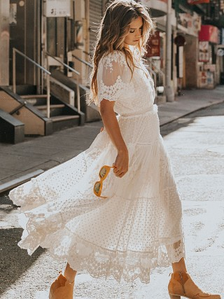 Spell & The Gypsy Dawn Lace Gown Cream