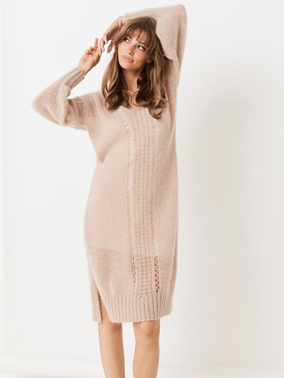 Spell & The Gypsy Knit Midi Dress Stone