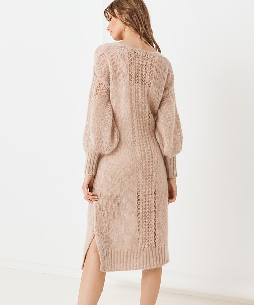 Spell Knit Midi Dress Stone
