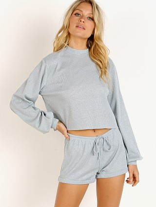 Beach Riot Lounge Sweater Silver