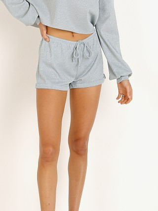 Beach Riot Lounge Short Silver