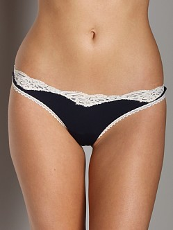 Only Hearts Delicious Low Rise Thong Navy/Birch