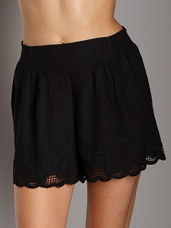 Free People Embroidered Skort Black