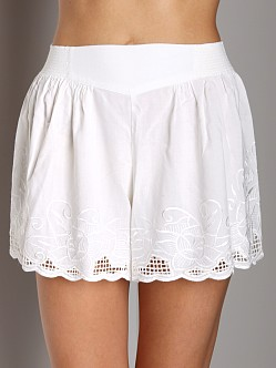 Free People Embroidered Skort White