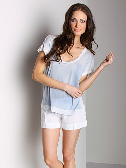 Bella Dahl Easy Scoop Neck Tee Faded Indigo