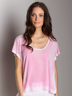 Bella Dahl Easy Scoop Neck Tee Ultra Pink