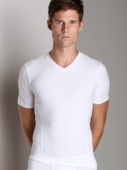 Calvin Klein Core Sculpt Compression V-Neck Shirt White