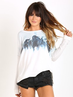 All Things Fabulous Drop Shoulder Cozy Sweater Wild Horses