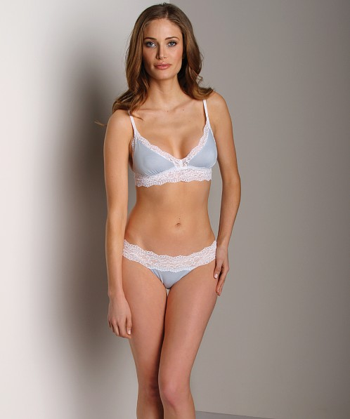 Cosabella Ever Two Tone Thong Chambray/White