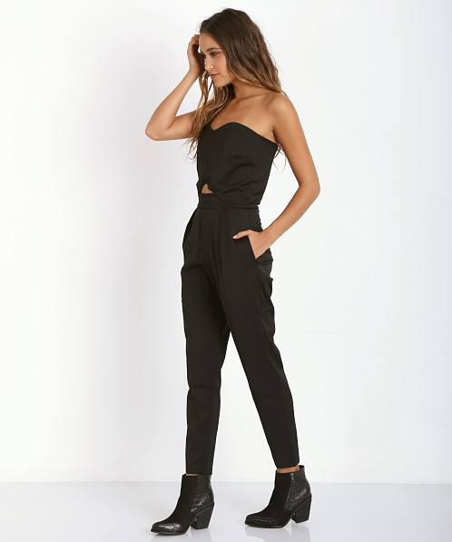 Three of Something Tidal Playsuit Black