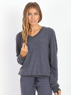 WILDFOX V Neck Baggy Beach Jumper Oxford