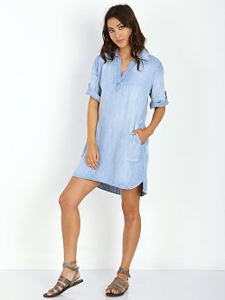 Bella Dahl A Line Shirt Dress Light Mist