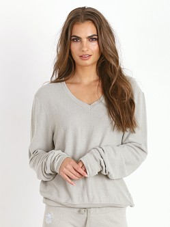WILDFOX V Neck Baggy Beach Jumper Morning Mist