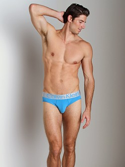 Calvin Klein Steel Micro Hip Brief Blue Heron