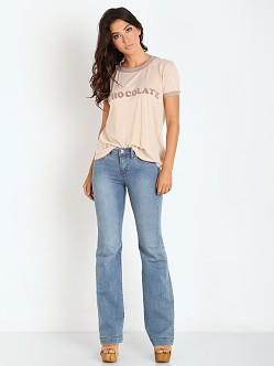 WILDFOX Chocolate Vintage Ringer Tee