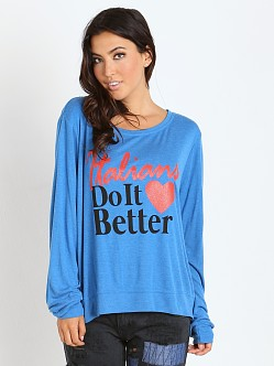 WILDFOX Italians Do It Better Baggy Beach Jumper