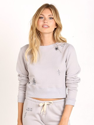 Model in grey All Things Fabulous Crop Sweatshirt