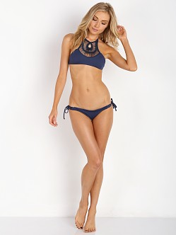 Bettinis Crochet Halter Navy