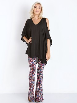 Show Me Your Mumu Peta-Boo Blouse Black