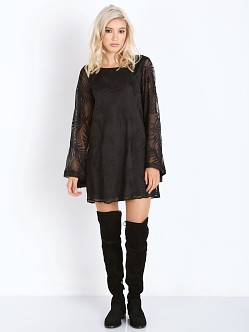 Show Me Your Mumu Knockout Dress Leafy Luxe Black