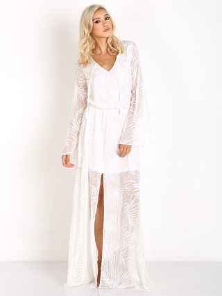 Show Me Your Mumu Juliet Maxi Dress Leafy Luxe White