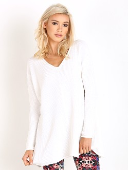 Show Me Your Mumu Overtop Sweater Cloudy White