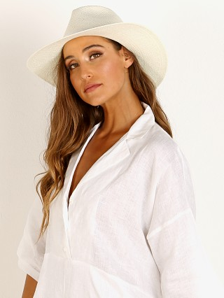 Janessa Leone Aimee Fedora Packable Hat Bleach