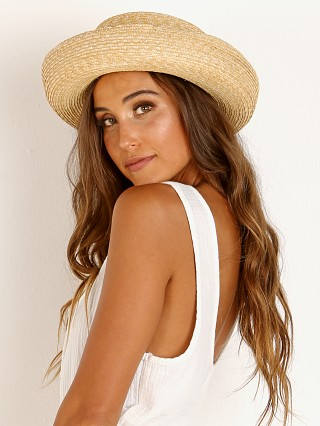 Model in natural Janessa Leone Robin Bowler Hat