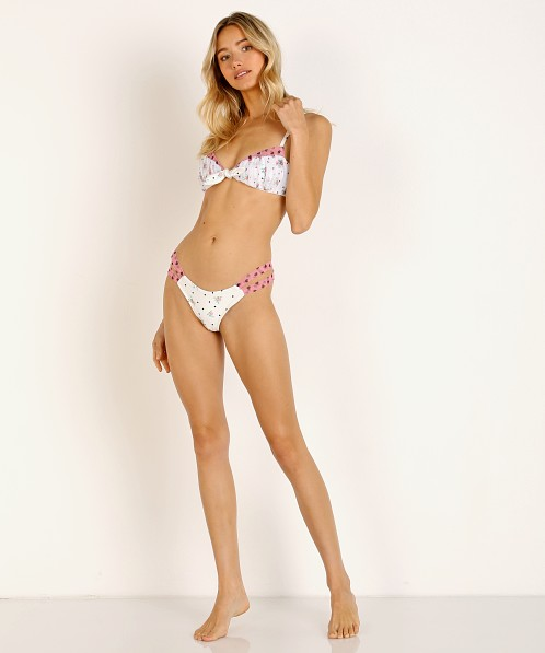 For Love & Lemons Naomi Twist Bikini Bottom Floral